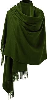 PULI 女式大号轻柔羊绒手感羊绒披肩围巾