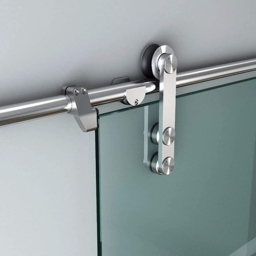 Stainless Steel Dealing full price reduction Glass Sliding Hardware Slide Spring new work one after another Interior Door