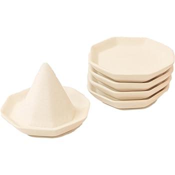 Moa Feteli(モアフェティ) 盛り塩セット用 開運 八角 素焼き 皿 2寸 5枚セット <小>