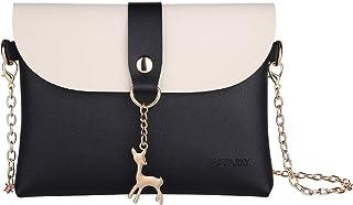 AISPARKY Kleine Crossbody Geldbörse für Damen,Leder Umhängetasche Hirsch Crossbody Frauen Handtasche kleine Geldbörse Telefon Tasche für Mädchen