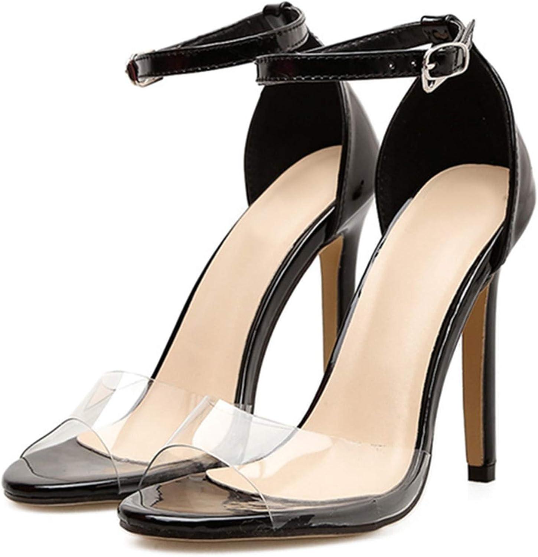 Gooding life Heel Sandals Women Transparent PVC High Heel Women Sandals Peep Toe High Heels shoes