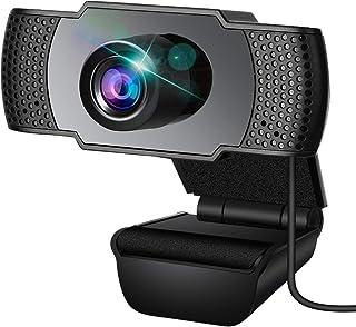 Webcam, Webcam con micrófono, PC Webcam, Streaming Computer Web Camera con soporte de denuncia 3D y ganancia automática, U...