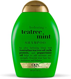 OGX Hydrating + Tea Tree Mint Shampoo, Nourishing & Invigorating Scalp Shampoo with Tea Tree & Peppermint Oil & Milk Prote...