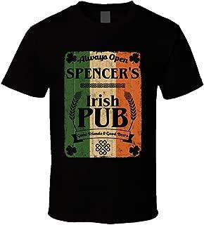 Spencer Irish Pub Sign Custom St Patricks Day First Name Ireland Pride T Shirt