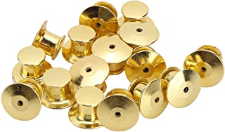 Silver DGQ 50 Count Pin Backs Locking Bulk Metal Pin Keepers Locking Clasp Locking Pin Backs
