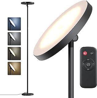 Lampadaire sur Pied Salon,28W Lampe sur Pied, 4 Températures de Couleur,4 Niveaux de Luminosité,Lampadaire LED sur Pied La...