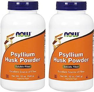NOW Foods - Psyllium Husk Powder 12 oz (Pack of 2)