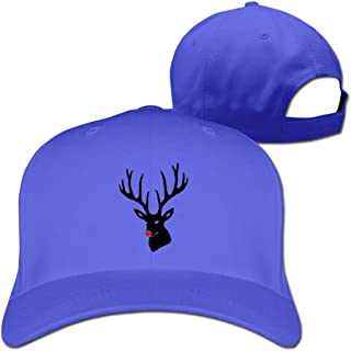 Christmas X-mas Merry Reindeer Deer Cotton Baseball Cap Peaked Hat Snapback For One Size Fit All Ash