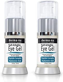 Eye Gel Anti-Aging Cream - Treatment for dark Circles, Puffiness, Wrinkles and Fine Lines - Hyaluronic Acid...