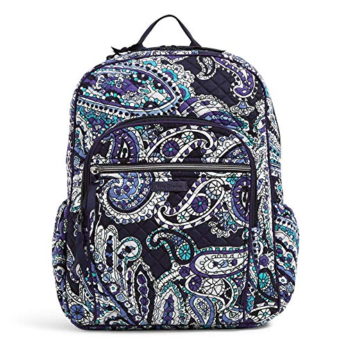 Vera Bradley Women's Signature Cotton Campus Backpack, Deep Night Paisley, One Size