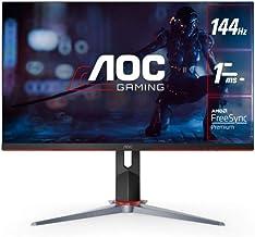 "AOC 24G2 24"" Frameless Gaming IPS Monitor, FHD 1080P, 1ms 144Hz, Freesync, HDMI/DP/VGA, Height Adjustable, 3-Year Zero Dea..."