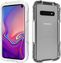 Gorilla Gadgets Waterproof Heavy Duty Case Compatible with Galaxy S10, 3 Latches with Built-in Silicone Membrane Screen, Full-Body Shock Absorption Dustproof Case - White