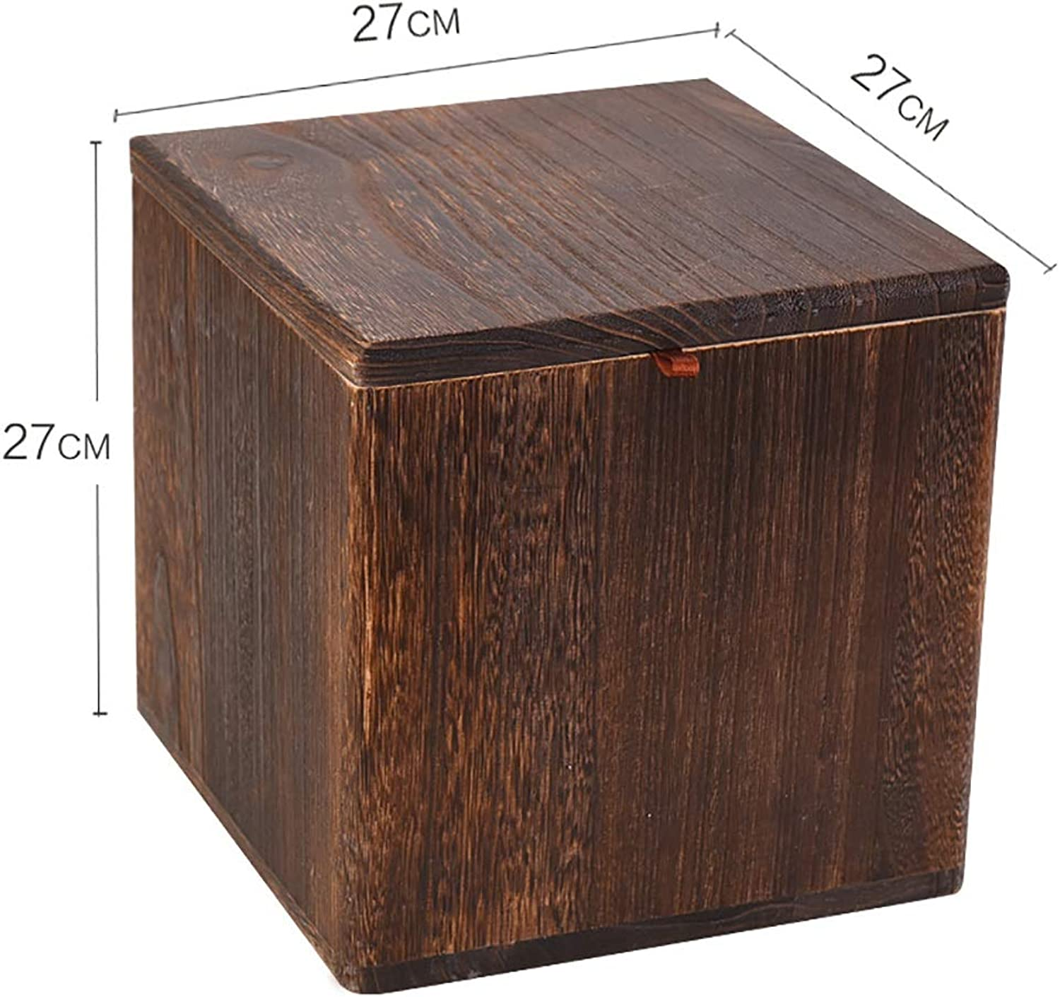 Stool Wooden Bench Living Room Fashion Creative shoes Bench Storage Tea Table Stool Square Stool Low Stool 27  27  27cm (color   B)