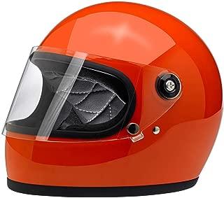 Biltwell Gringo S ECE Rated Helmet Gloss Hazard Orange Large (More Size and Color Options)