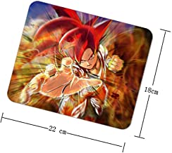 Game Mouse Pad Office Mouse Pad Gaming Surface Mouse Non Slip Mat,Square Mouse Pad,Goku Dragon Ball z Battle of Gods,9x7 inches