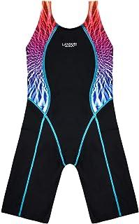 ملابس السباحة الرياضية للفتيات قطعة واحدة بتصميم سباقات السباق الخلفي Swminwear Boyleg التنافسية