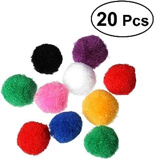 WINOMO ポンポンボール 猫 ボールおもちゃ フェルトパーツ 4cm 20個 ストレス解消 運動不足解消 DIY素材
