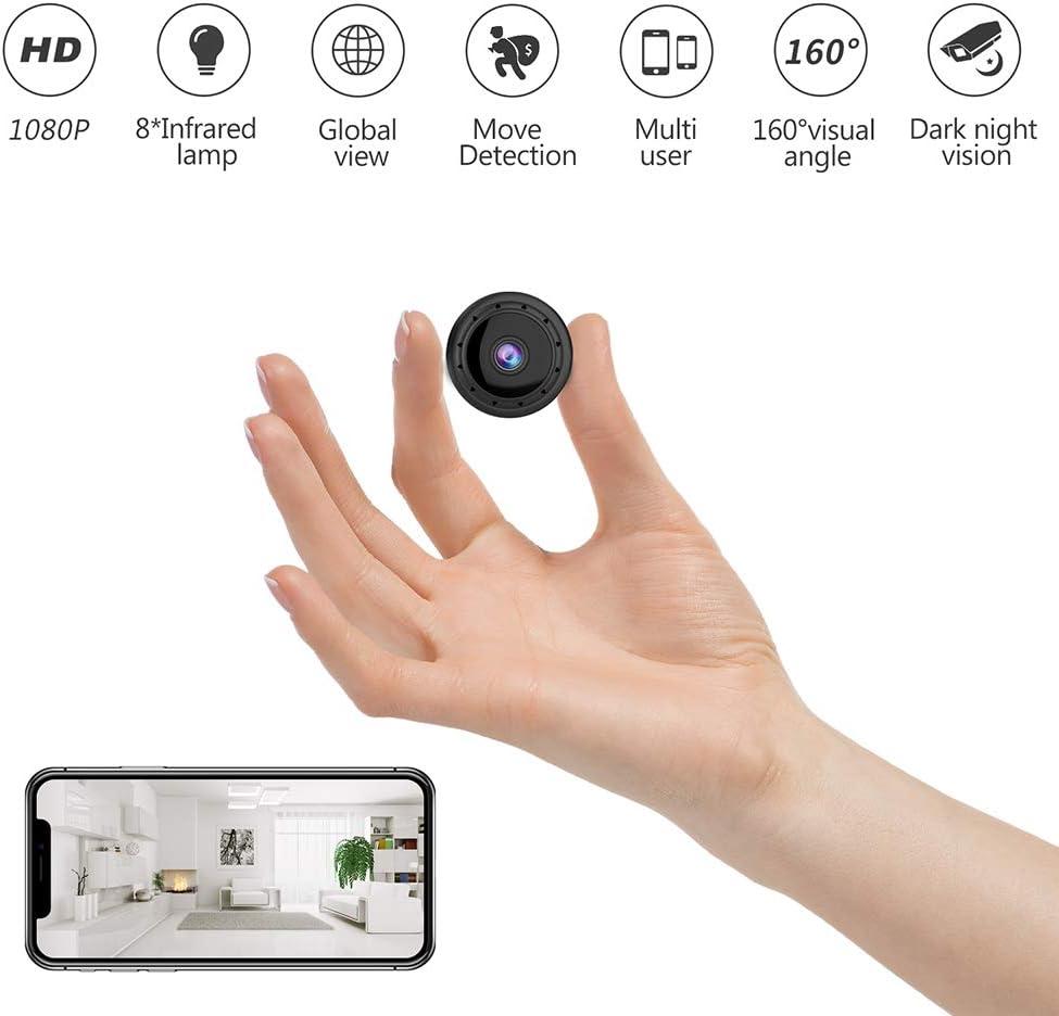 Mini Hid den WiFi Camera, Premium Pack, 1080P Audio and Video Recording Live Feed, Portable Wireless Hid den Nanny Cam for Live Remote View, Surveillance Camera Full HD