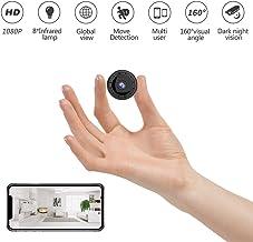JRCMDS Mini Kamera,HD 1080p Mini Überwachungskamera mit Nachtsicht, Multifunktionale..