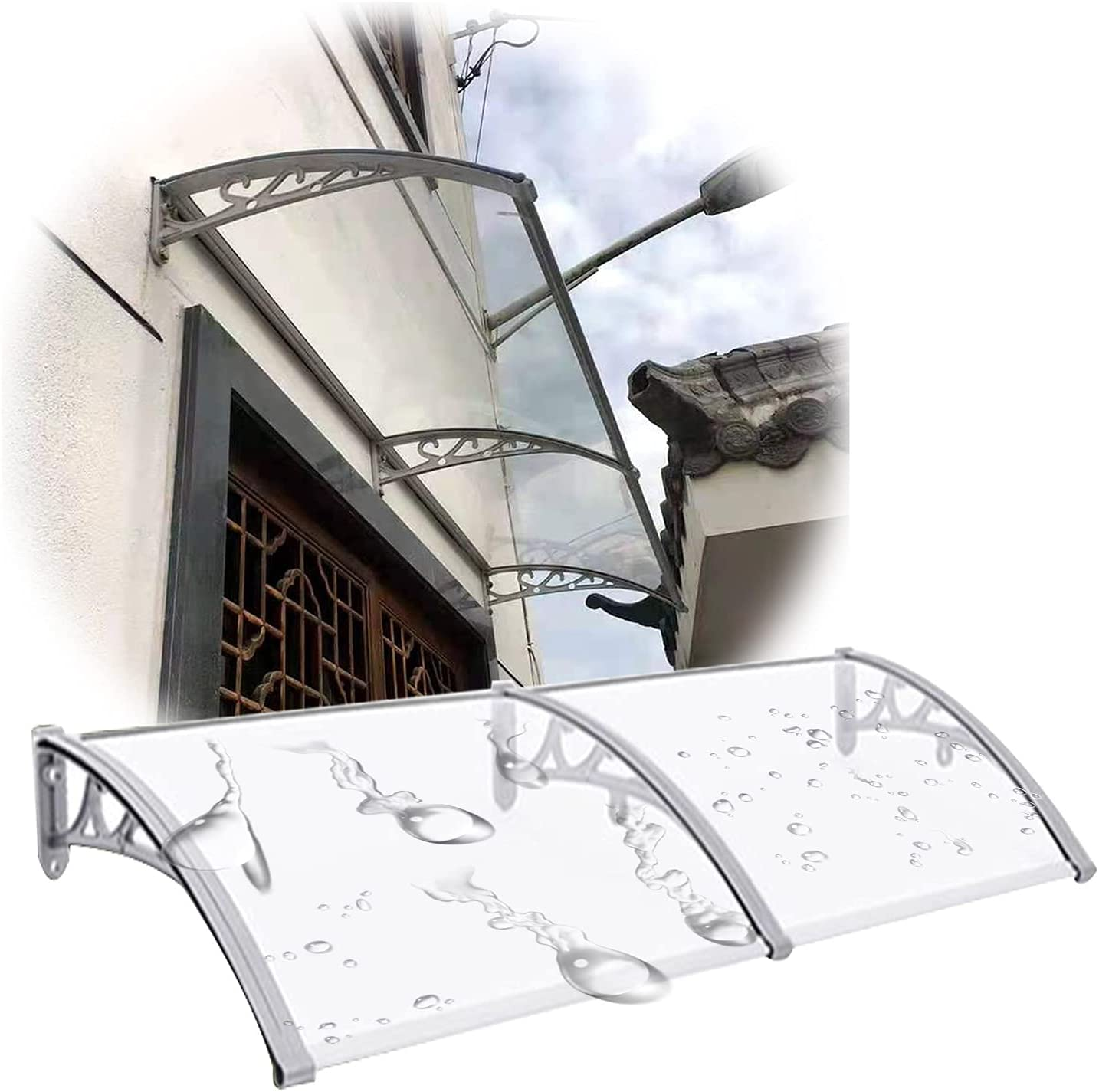 JIANFEI Door NEW before selling ☆ Window Ranking TOP3 Awning Transpar Outdoor Wall-Mounted Canopy