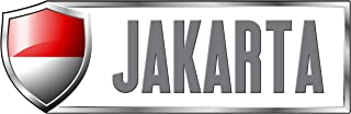 Makoroni - INDONESIA JAKARTA Country Nation Sticker Decal Car Laptop Wall Sticker Decal 3'by9' (Small) or 4'by12' (Large)