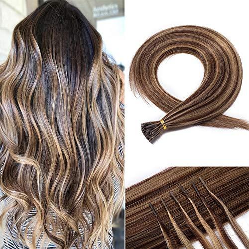 20 Pouces 100 Mèches Extension Cheveux Naturel...