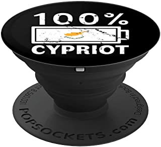 Cyprus Flag Design   100% Cypriot Battery Power Tee - PopSockets Grip and Stand for Phones and Tablets