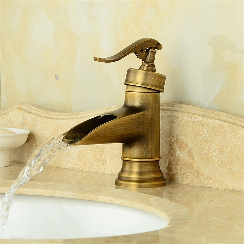 Sin impuestos SHLONG Grifo de lavabo de bambú Grifo Grifo Grifo de lavabo de bambú Grifo de agua fría y caliente  nuevo estilo