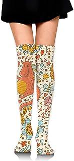 Firedragon Calcetines largos hasta la rodilla unisex Botas Calcetines largos Longitud 60cm