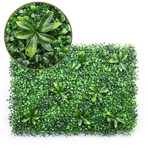 TTIK 9 Piezas Jardín Vertical Artificial Pared, Artificial Grass Cortasetos Plástico Césped Falso Cobertura para El Hogar Interior Al Aire Libre Decoración De La Pared 60X40 Cm,A