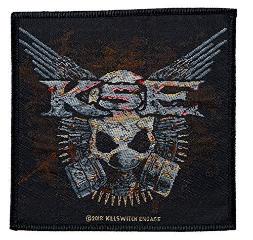 Killswitch Engage Gas Mask Logo Aufnäher Patch Gewebt & Lizenziert !!