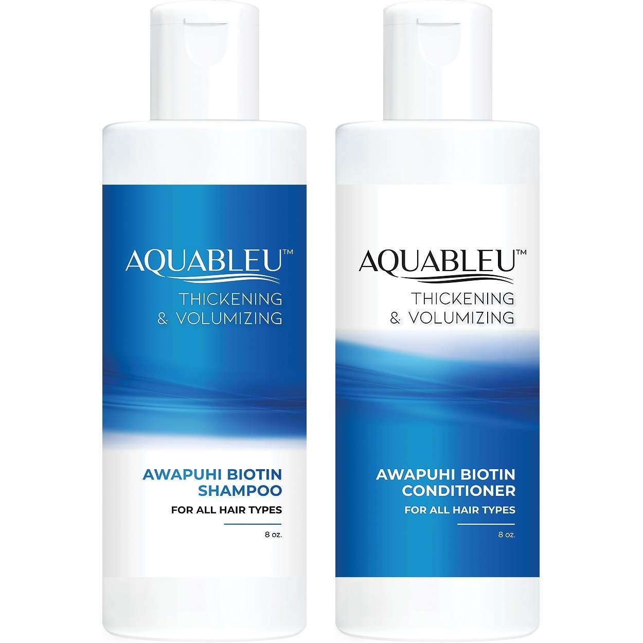 Aquableu Shipping included Biotin Shampoo Excellent Conditioner Set Natural Thicken –
