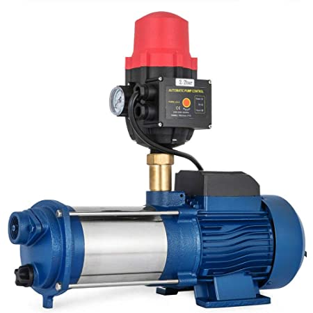 WUPYI2018 Pompe Centrifuge en Acier Inoxydable Pompe Centrifuge 1300W Pompe De Jardin 160L/min (2200W)