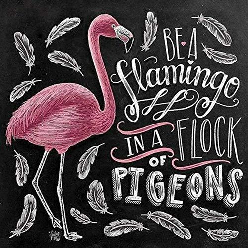183Tdfc Puzzle 1000 Teile Erwachsene Flamingo-Text Puzzle Holzpuzzle 3 Jahre Und Älter 3D Hd Druck Karten Geburtstag Geschenk 75*50Cm/1000 Stück