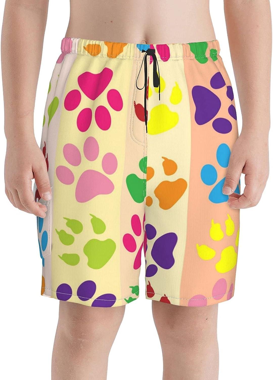 Great interest Colorful Paw New product! New type Print Boys Swim Teens Swi Boardshorts Trunks Beach