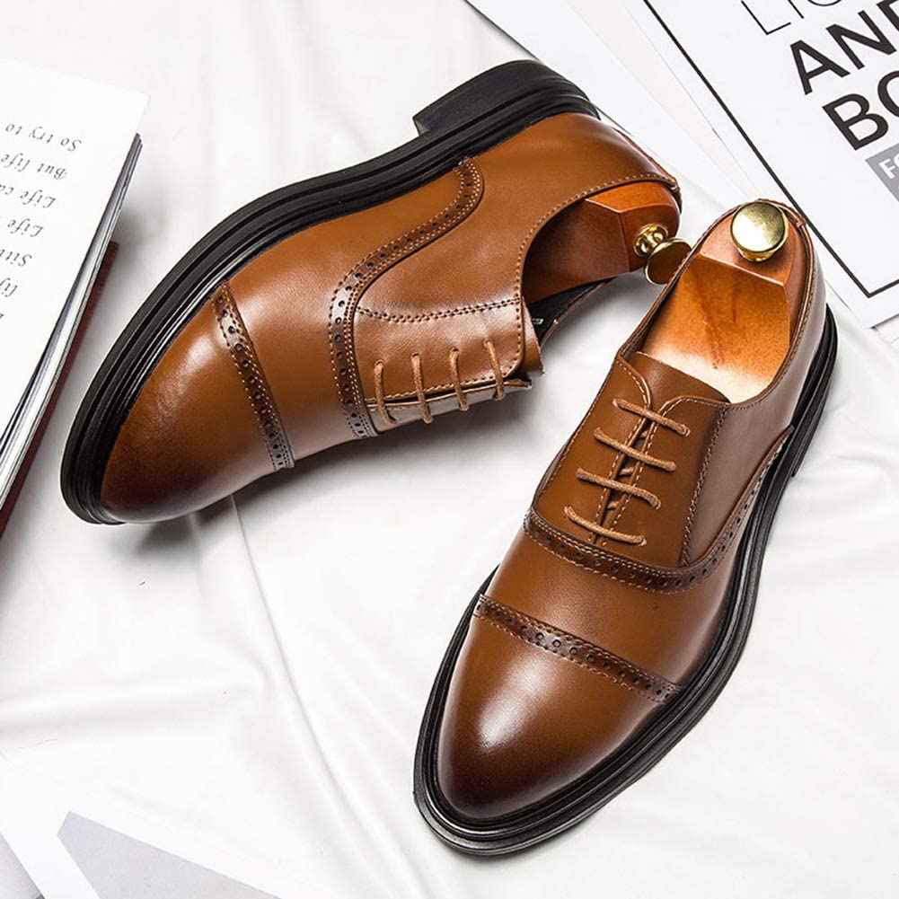 Leo Mens Business Dress Shoes Classic Modern Pointed Leather Shoes Leather Upper Shoes Size 6-10