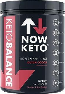 NOW KETO ライオンのたてがみMan、チャーガe、ロディオラ根、C8 MCTオイルパウダーナトリウム、マグネシウム、カリウム、海塩、オランダココアケトコーヒークリーム(オランダココアチョコレート)とケト+バランスダッチココアチョコレート