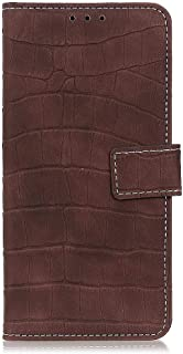 zl one Compatible with/Replacement for Phone Case LG K20 2019 PU Leather Wallet Case Card Slots Flip Cover (Brown)