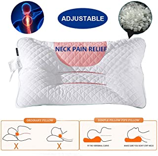 COCOPLAZA Basic Polyethylene Pipe Pillow Cervical Contour Pillow Adjustable Japanese Style for Side Sleeper Washable Neck Support Adjustable Pillow (White, 29 X 19 Inch)