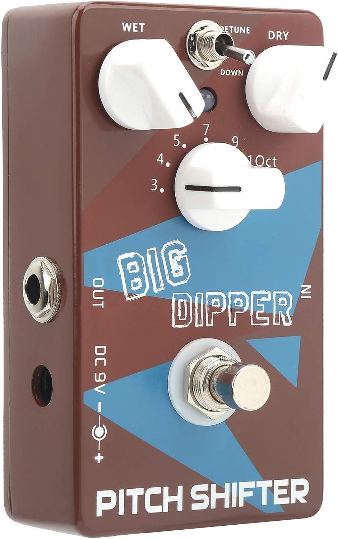 Pitch Shifter, 4.4 X 2.5 X 1.3In Pedal de refuerzo Larga vida útil Diseño de moda Portátil para amantes de la música para clubes de música para actuaciones al aire libre para guitarristas