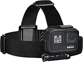 Sametop Head Strap Mount Compatible with GoPro GoPro Hero 8 Black, Hero 7 Black, 7 Silver, 7 White, Hero 6, 5, 4, Session, 3+, 3, 2, 1, Hero (2018), Fusion, DJI Osmo Action Cameras