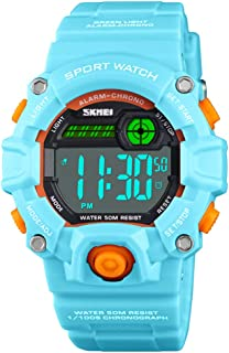 Kids Watch with Waterproof 50m Stopwatch Alarm Date 12/24H EL Backight Dual Time, Children Digital Sports Electronic Watch for Boys Girls …