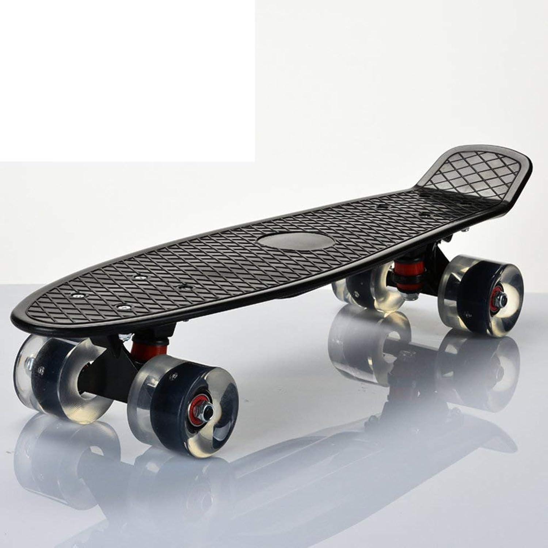 Acacia Bird Robustes Skateboarding Skateboard für Erwachsene Professionelle Fischplatte auf Pinsel Street Kinder-Roller   4-Rad-Straßentransport-Skateboards Skip B07Q1YPG3X  Flut Schuhe Liste