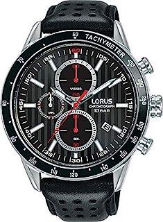 Lorus Mens Analog Quartz Watch with Leather Bracelet RM335GX9