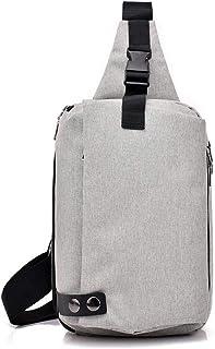 Hombro Pecho Mochila Hombres Bolsa de hombro en el pecho de la lona bolsa de mensajero impermeable ocasional de viajes de ...