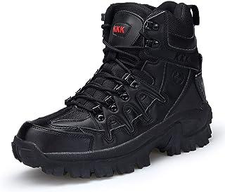 Hommes Militaire Combat Bottines Baskets Chaussures décontractées Travail en Plein air Bottes de sécurité,Black-41