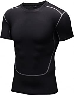 Men's Sport Compression Short-Sleeve Athletic Shirts Baselayer