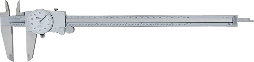 "Mitutoyo 505-746 Dial Caliper, 0.1"" per Rev, 0-12"" Range, 0.002"" Accuracy, White Face"