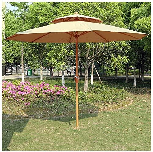 CHLDDHC Paraguas Al Aire Libre,Sombrilla de Jardín Sombrilla para Playa, Piscina, Patio, Jardín,Beige-270CM