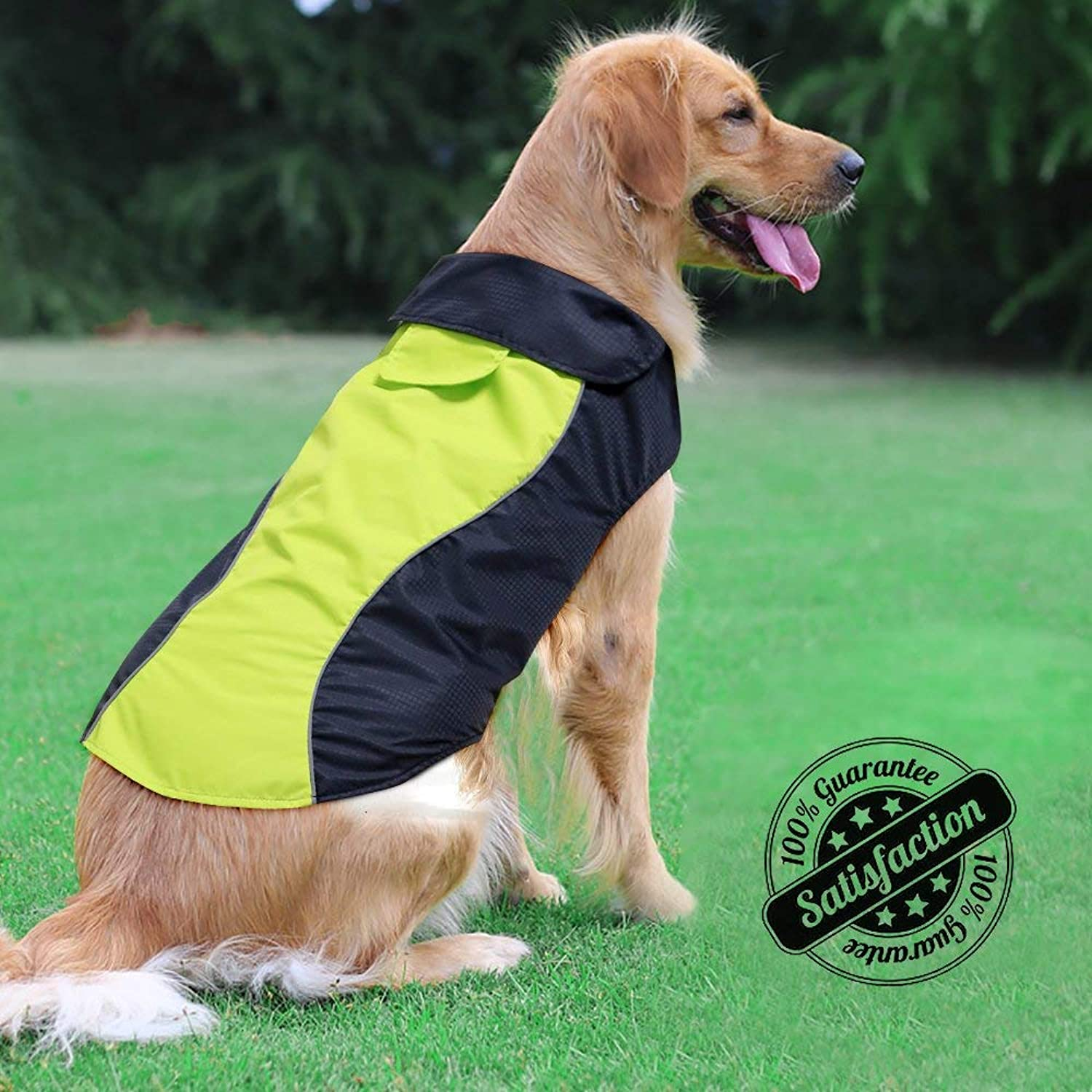 Ezer High Visibility Dog Coat Safety Waterproof Dog Jacket for Cold Weather (XXXL)